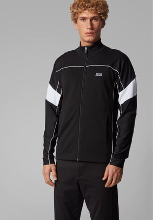 SICON - veste en sweat zippée - black