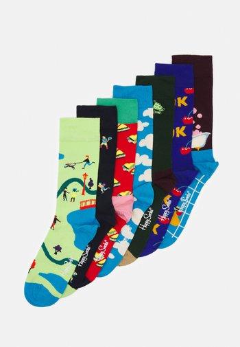 7 DAY 7 PACK UNISEX - Ponožky - multi
