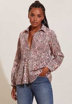 EVELYN - Button-down blouse - light taupe
