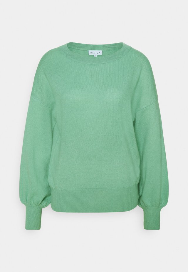 BALLOON SLEEVE - Jumper - dusty green
