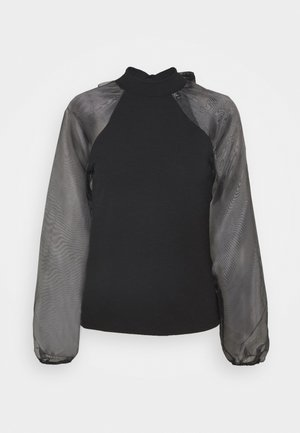 PCNALLY BOW - Blouse - black
