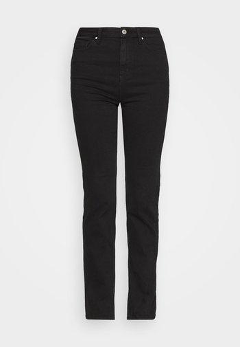 SOPHIA - Jeans straight leg - black denim
