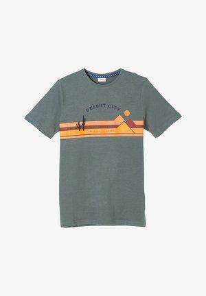 Print T-shirt - petrol