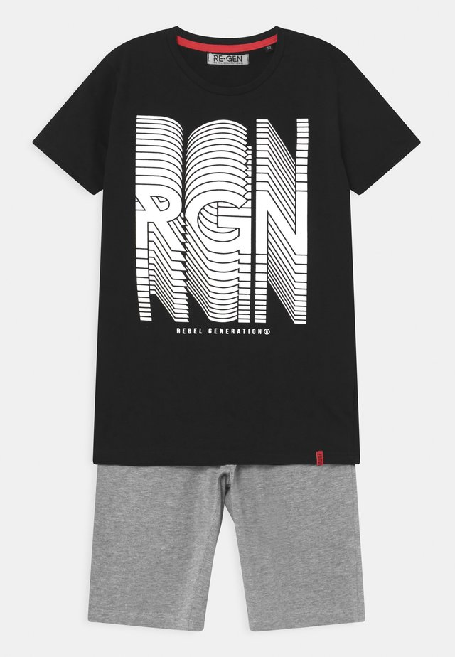 TEEN BOYS SET - Printtipaita - black