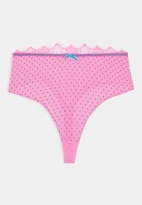 Playful Promises - SOPHIA HIGH WAIST RIBBON THONG CURVE - Thong - pink - 0
