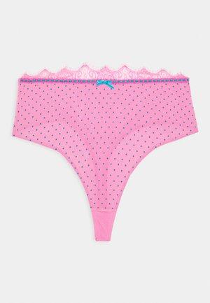 SOPHIA HIGH WAIST RIBBON THONG CURVE - Perizoma - pink
