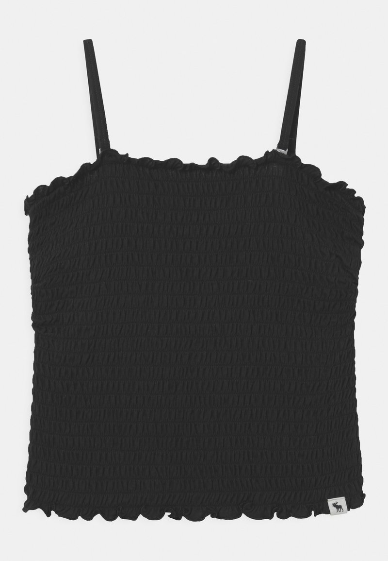 Abercrombie & Fitch - MAY BARE SMOCKED - Top - black