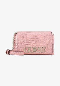 Guess - UPTOWN CHIC MINI XBODY FLAP - Across body bag - pink - 1