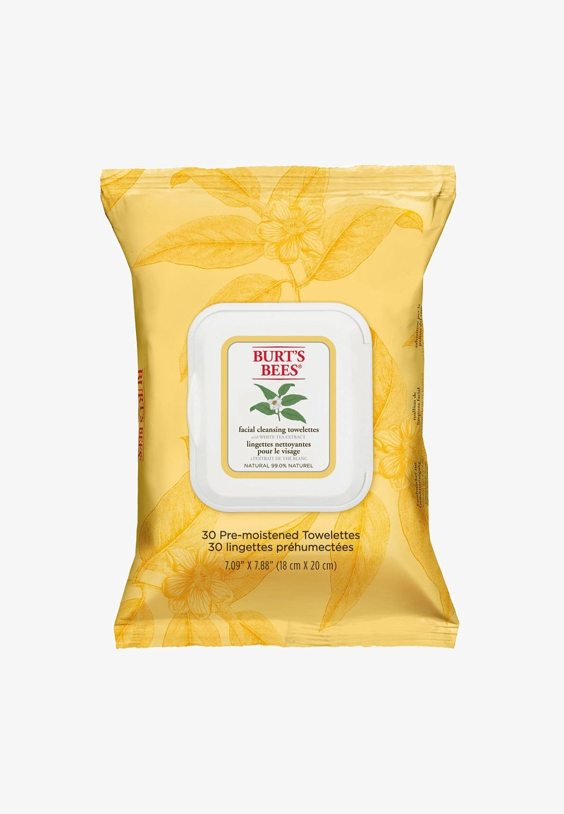 Burt's Bees - FACIAL CLEANSING TOWELETTES 30 PACK - Cleanser - white tea
