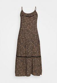 BECKY STRAPPY RUFFLE MAXI DRESS - Maxi dress - black
