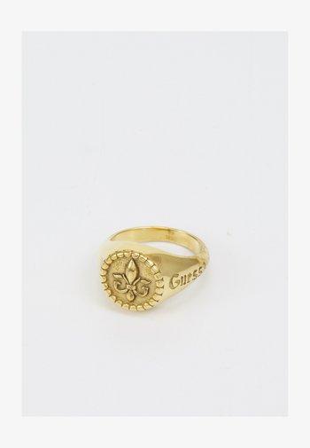 ROUND SIGNET GIGLIO - Sormus - antique gold-coloured