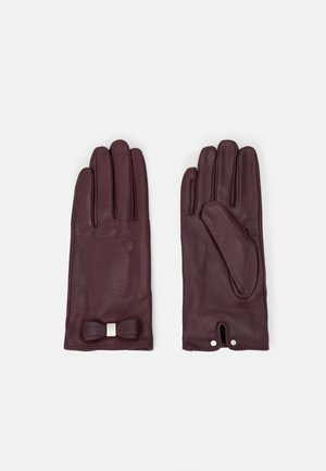 FRANNCA BOW DETAIL GLOVE - Gloves - purple