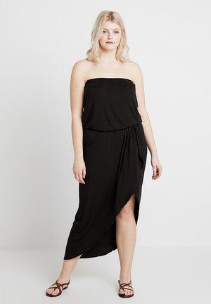LADIES BANDEAU DRESS - Maxi-jurk - black