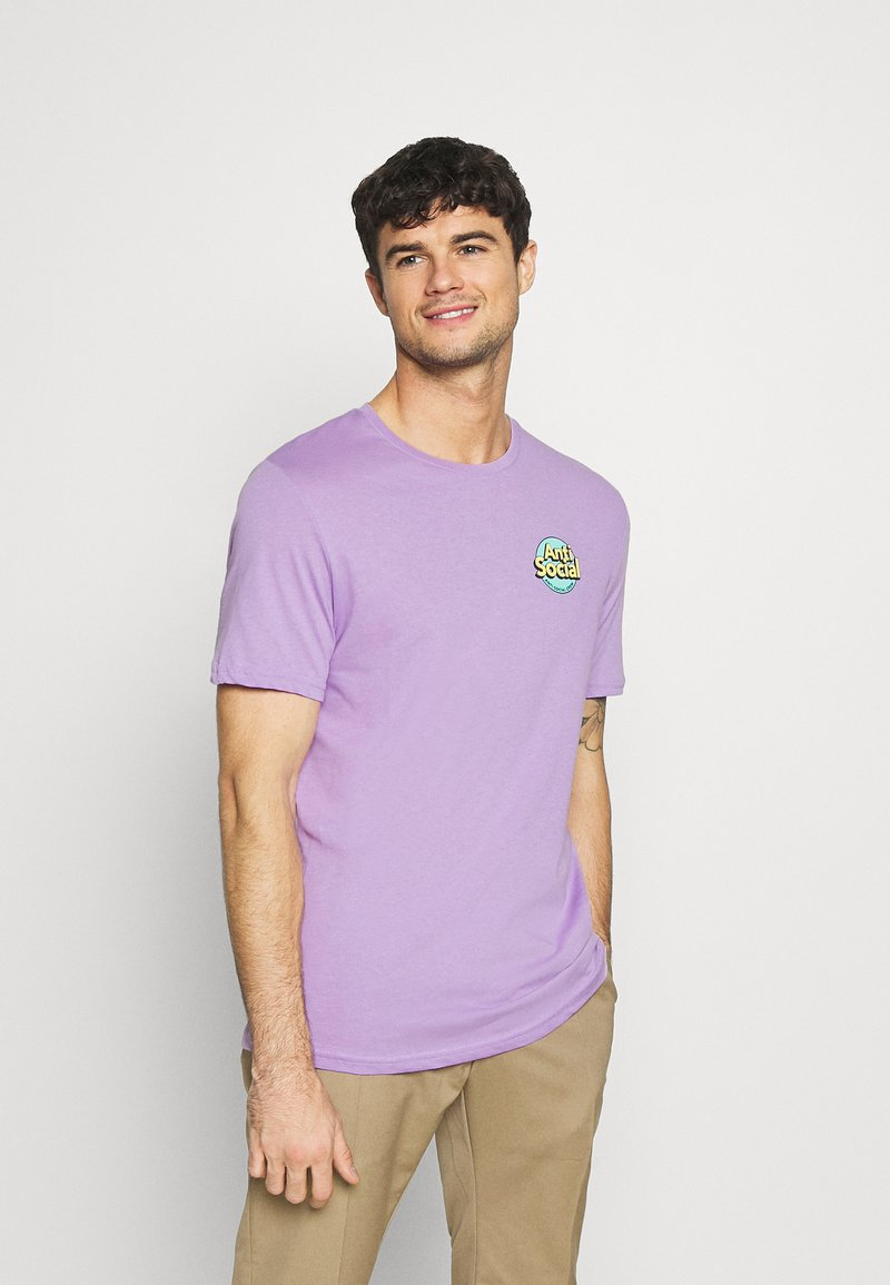 YOURTURN - UNISEX ANTI SOCIA - T-shirt print - lilac