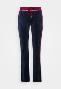 Jaded London - FLARED TRACK PANTS - Joggebukse - navy/burgundy - 0
