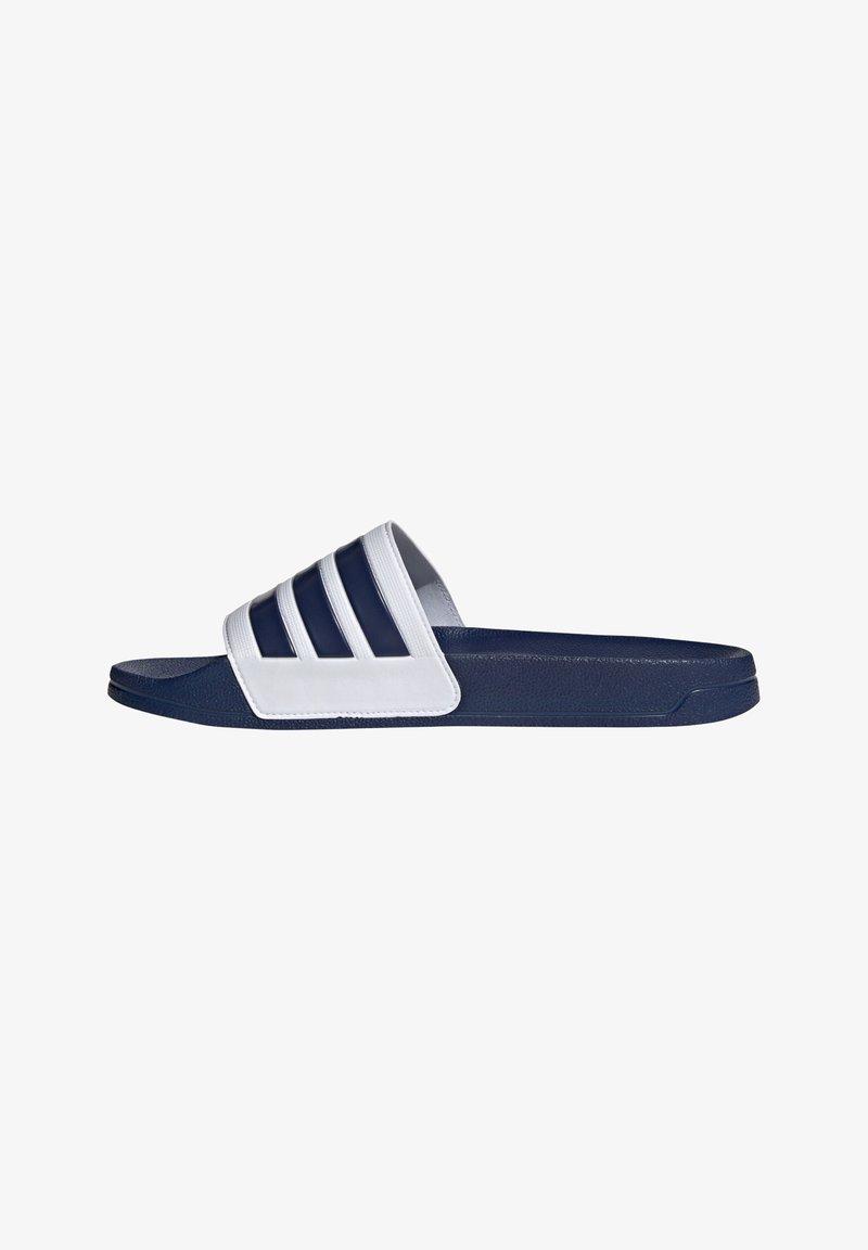adidas Performance - Sandały kąpielowe - blauweiss