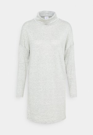 JDYSARA TONSY NECK DRESS - Pletené šaty - silver birch melange