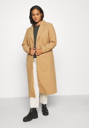 RELAXED SINGLE BREASTED COAT - Classic coat - camel