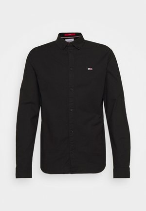 SLIM STRETCH OXFORD - Camisa - black