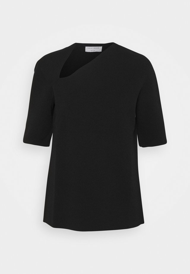 IOANA - T-shirt imprimé - black