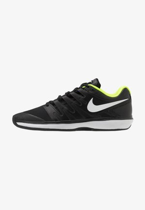 AIR ZOOM PRESTIGE CLAY - Clay court tennis shoes - black/white/volt