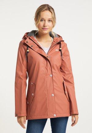 Waterproof jacket - terracotta