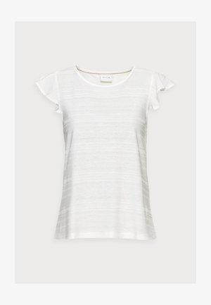 VIFLINT CAPSLEEVE T-SHIRT PETITE - T-shirt med print - cloud dancer
