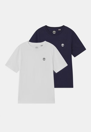 2 PACK - T-shirt print - navy/white