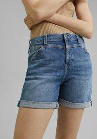 Esprit - Denim shorts - blue medium washed - 7