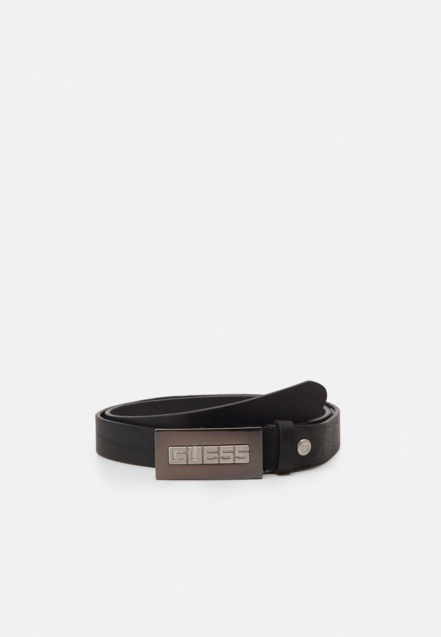 BELT SQUARE LOGO BUCKLE - Pásek - black
