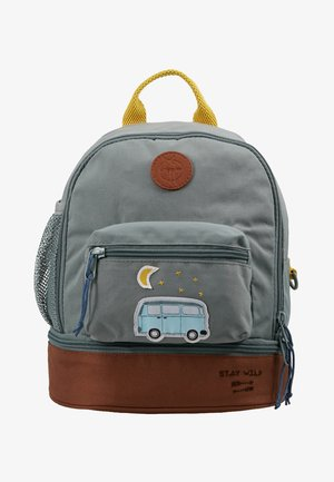 MINI BACKPACK ADVENTURE BUS - Tagesrucksack - cognac/olive