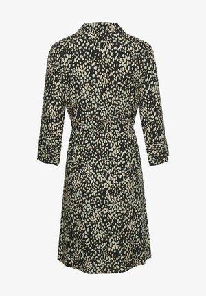 Shirt dress - black bean print