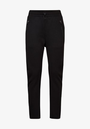 FABRIC MIX TAPERED  - Broek - dk black