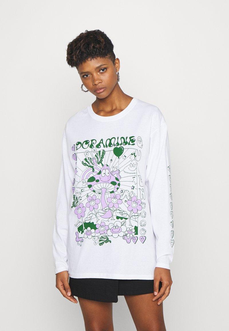 NEW girl ORDER - DOPAMINE TOP - Long sleeved top - white