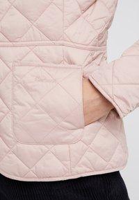 Barbour - DEVERON QUILT - Light jacket - pale pink/white - 3