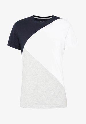 T-shirts print - white/dark blue
