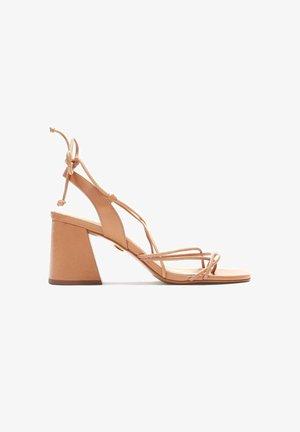 CLAUDIA - T-bar sandals - light brown