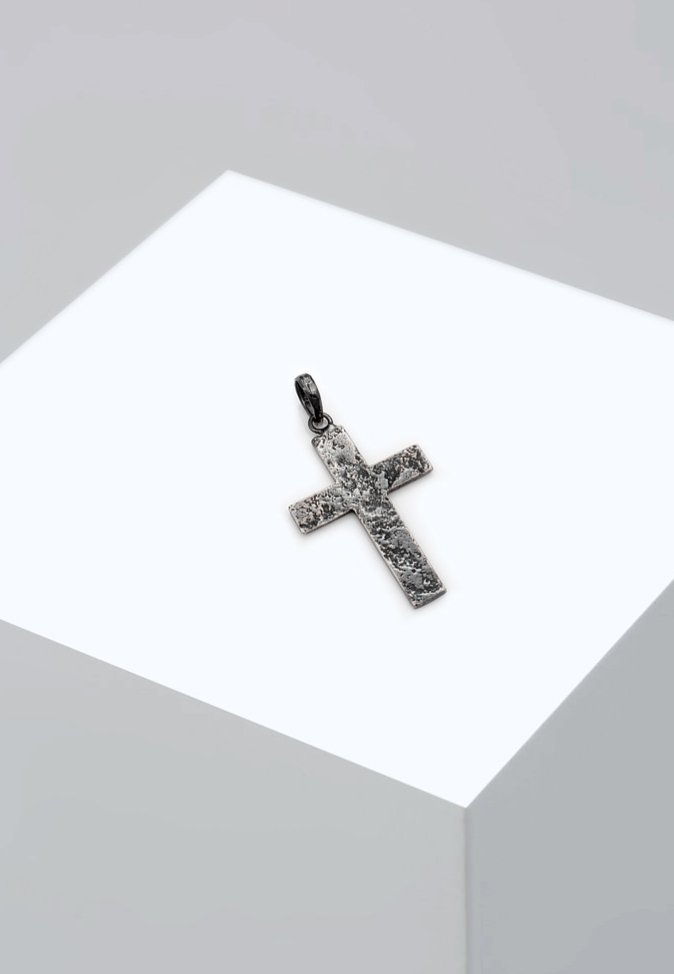 Homme CROSS USED LOOK - Charms - silver-coloured