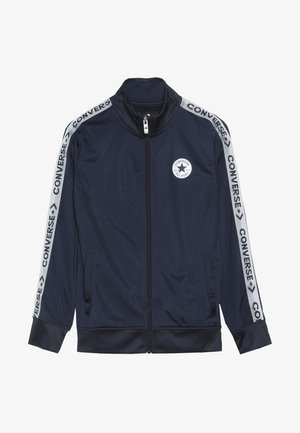 TRICOT TAPING TRACK JACKET - Giacca sportiva - obsidian/wolf grey