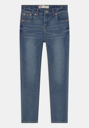 SKINNY TAPER - Jeans Skinny Fit - dark blue denim