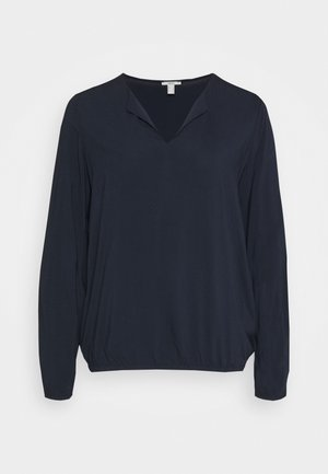 SOLID BLOUSE - Blouse - navy