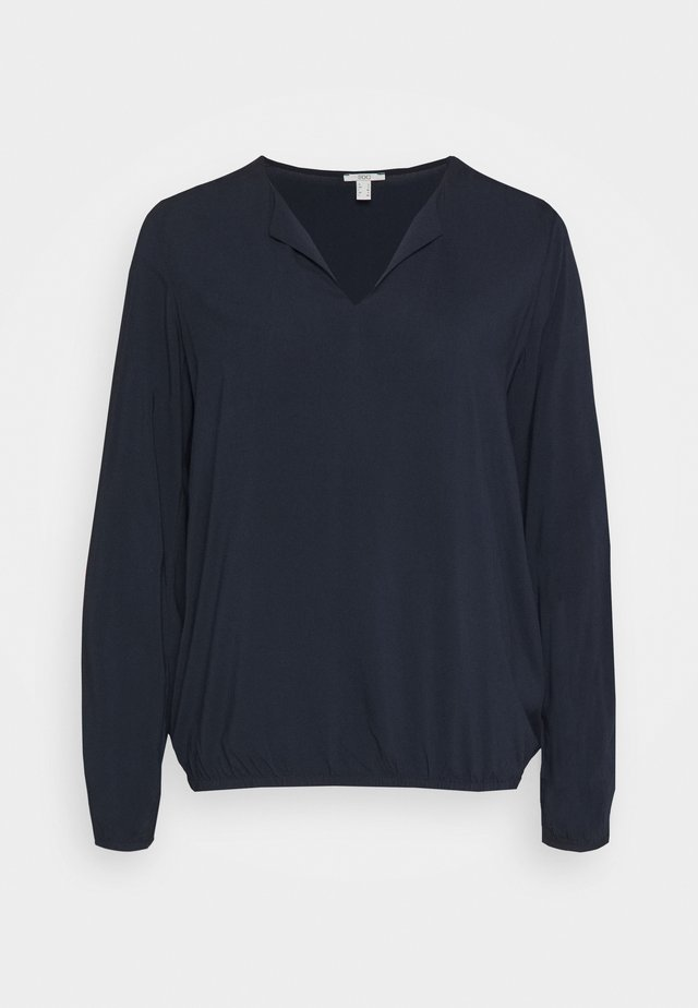 SOLID BLOUSE - Topper langermet - navy