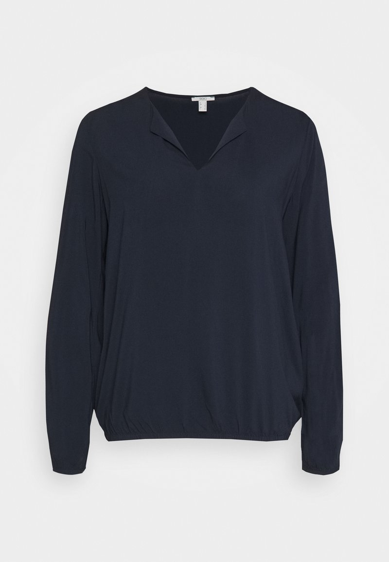 edc by Esprit - SOLID BLOUSE - Blouse - navy