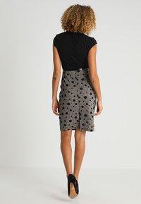 Anna Field - Shift dress - black/rose - 2