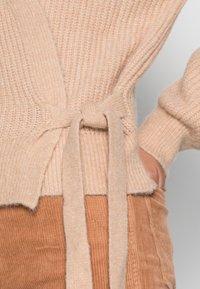 Esqualo - CARDIGAN WRAP AROUND - Vest - beige - 4