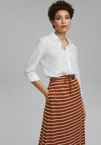 Esprit - A-line skirt - caramel - 5