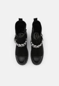 River Island Wide Fit - Cowboy/biker ankle boot - black - 5