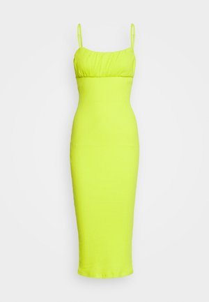BODYCON MIDI DRESS - Maxi šaty - neon lime