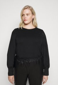 Pieces Curve - PCSTINA TOP CURVE - Blouse - black - 0