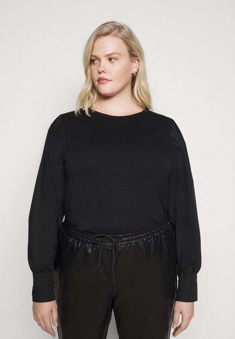 Pieces Curve - PCSTINA TOP CURVE - Blouse - black